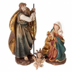 Natività Sacra Famiglia colorata 28 cm s1