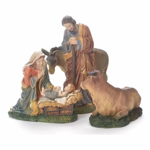 Nativité 20 cm résine avec animaux s1