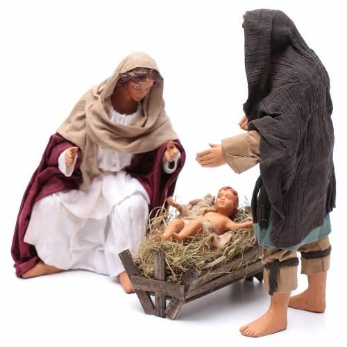 Nativité debout 24 cm crèche napolitaine s2