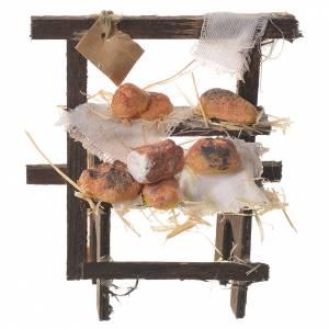 Miniature food: Nativity accessory, baker stall in wax 8.5x7x4.5cm
