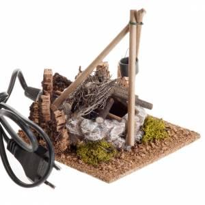 Nativity accessory, bonfire with pot s2
