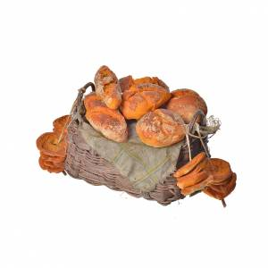 Nativity accessory, bread basket in wax, 10x7x8cm s3