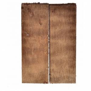 Nativity accessory, double door in wood for do-it-yourself nativ s2