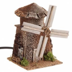 Nativity accessory, electric windmill 13x10x10 cm s1