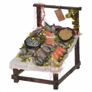 Nativity accessory, fishmonger stall in wax 22x21.5x17cm s1