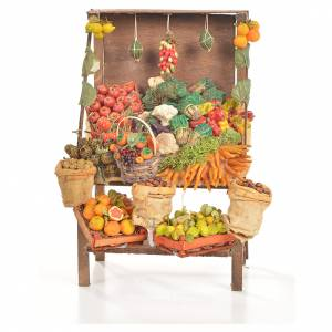 Miniature food: Nativity accessory, greengrocer's stall 20x27x44cm