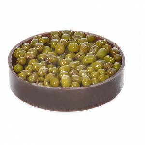 Miniature food: Nativity accessory, plastic box with olives, diam. 5cm