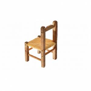 Nativity accessory, straw chair 4x2.5x2.5cm s2