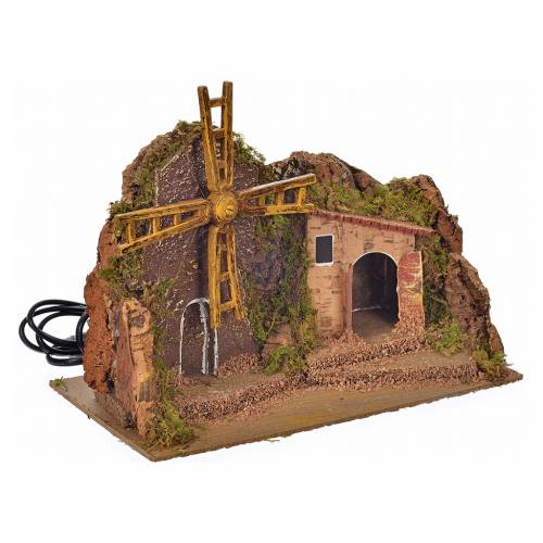 Nativity accessory, wind mill with gear motor 25x14x18cm s2