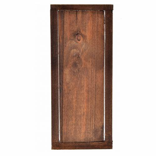 Nativity accessory, wooden door with frame 13.5x5.5cm s2