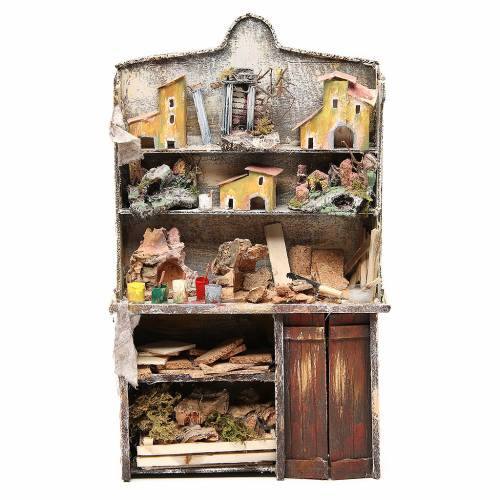 Nativity artist stall, miniature for nativities measuring 40x24x8.5cm s1