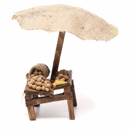 Nativity Bench with eggs and beach umbrella 16x10x12cm s2