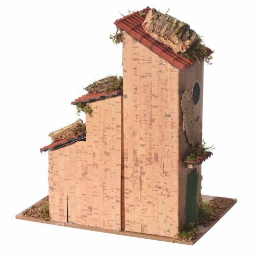 Nativity farmhouse measuring 25x21x16cm s4