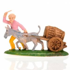 Nativity figurine, carter with cask ans donkey 8cm s1
