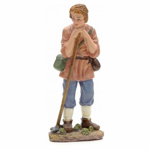 Nativity figurine, farmer with hoe 21cm s1