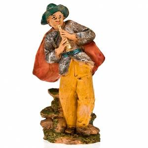 Nativity Scene figurines: Nativity figurine, fifer with cloak 13cm
