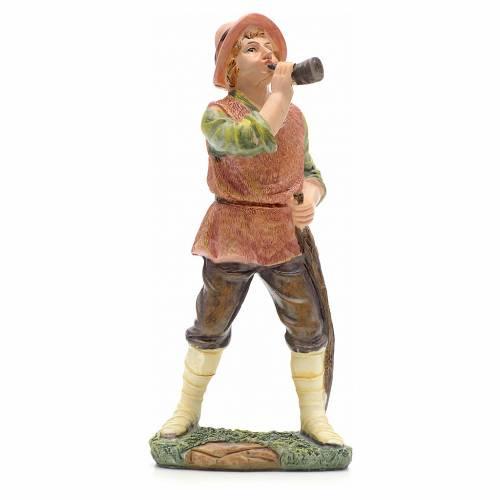 Nativity figurine, shepherd with horn 21cm s1
