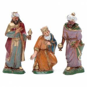 Nativity figurines, 3 Wise Men 10cm Moranduzzo in hand painted plastic s1