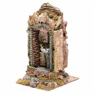 Nativity fountain in niche 24x11x11cm s2