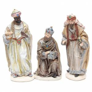 Nativity measuring 31cm, in resin with multi Gold finish s4