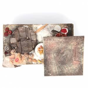 Nativity pizza maker stall in wax, 41x22.5x15cm s5