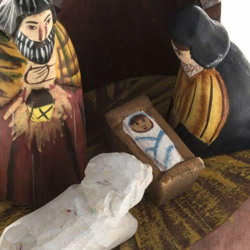 Nativity, Russian, in fir wood, oval base s2