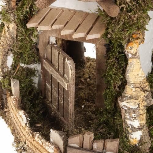 Nativity scene accessory, cabin-style hut, 28x38x30cm s2