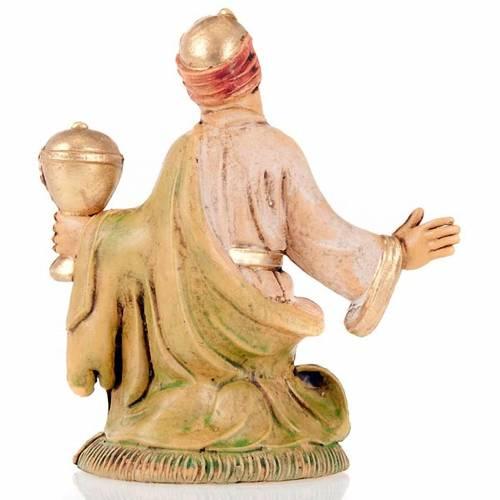 Nativity scene accessory, Creole wise man figurine 8cm s2