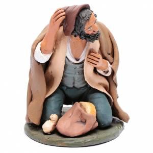 Terracotta Nativity Scene figurines from Deruta: Nativity Scene figurine, mendicant 30cm Deruta