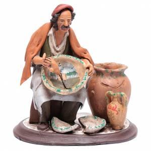 Terracotta Nativity Scene figurines from Deruta: Nativity Scene figurine, painter 30cm Deruta