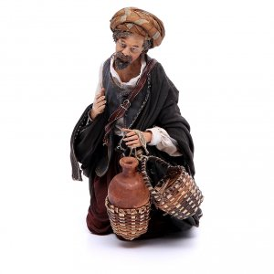 Nativity scene figurine, shepherd 30 cm, Angela Tripi s1