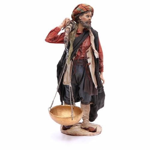 Nativity scene figurine, shepherd with scale 30 cm, Angela Tripi s4