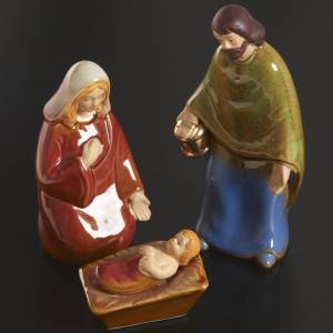 Stylized Nativity scene: Nativity scene full set in ceramic, 11 figurines, 15 cm