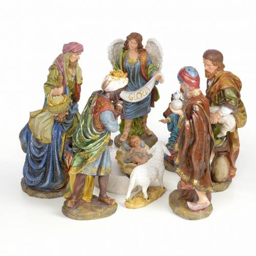 Nativity scene in resin 41cm s1