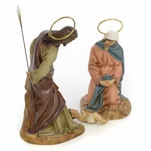 Nativity scene in wood pulp 20cm elegant decoration s4