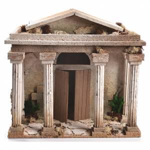 Nativity Scene setting, Temple measuring 33x35x25cm s1