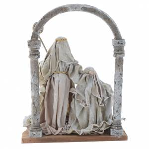 Nativity scene with arch in Green Beige resin measuring 40cm s4