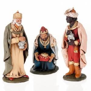 Terracotta Nativity Scene figurines from Deruta: Nativity set accessories clay Three wise kings 18 cm