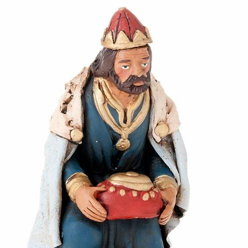 Nativity set accessories clay Three wise kings 18 cm s2