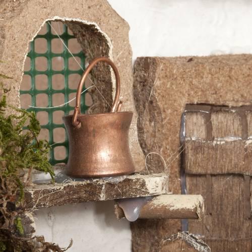 Nativity set accessory, cabin-style Hut 60x30x40 cm s8