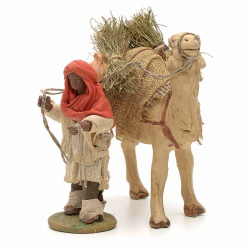 Nativity set accessory Dark cameleer with camel 10 cm figurines s2