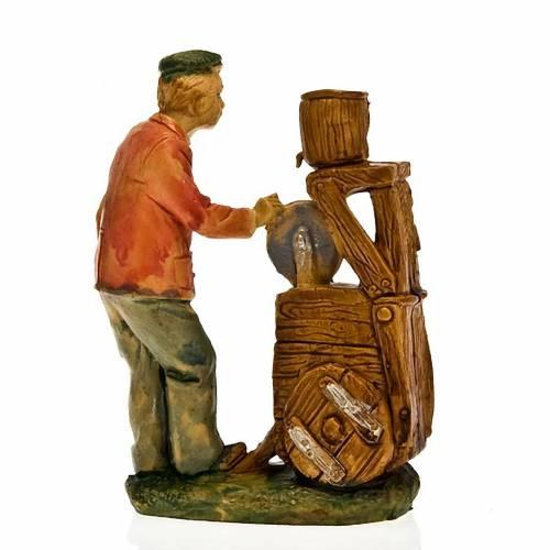 Nativity set accessory, Knife grinder figurine 10cm s2
