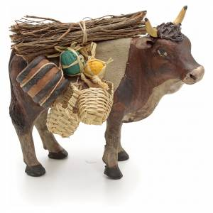 Nativity set accessory Ox standing and harness 14 cm s1