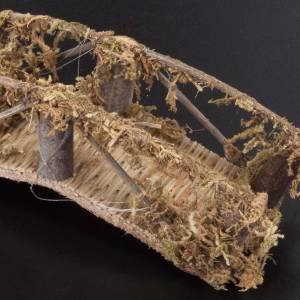Nativity set accessory, wooden bridge 13x4 s2