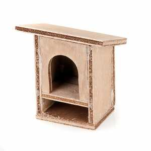 Animals for Nativity Scene: Nativity Scene accessory, wooden rabbit hutch 8 - 10cm