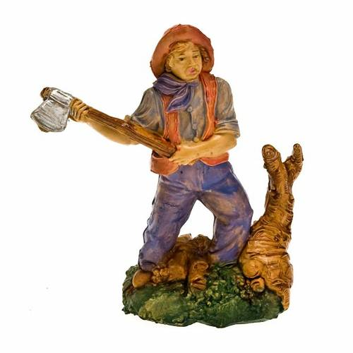 Nativity set figurine, woodcutter with hatchet 10cm s1