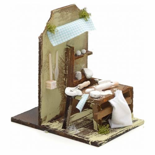 Nativity setting, baker's workshop 10x4,5cm s2