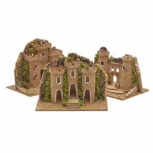 Nativity setting, castle measuring 15x10cm s1