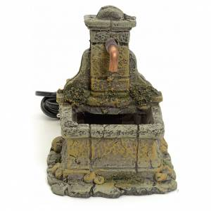 Fountains: Nativity setting, fountain in resin 15x18x12cm