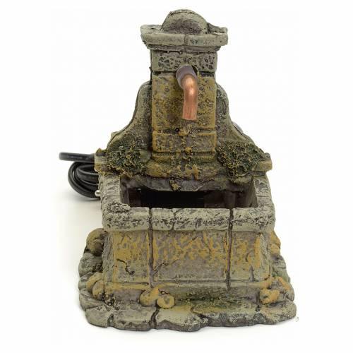 Nativity setting, fountain in resin 15x18x12cm s1